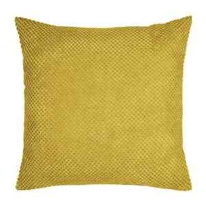 NEW-Dunelm-Large-Chenille-Spot-Cushion-55cm-x-55cm-Yellow