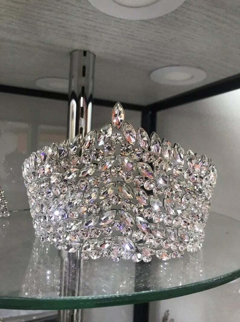 Swarovski crown, crystal crown, bridal crown, Silver Crown, queen crown, tiara