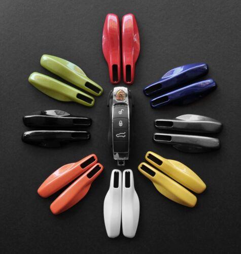 Fernbedienung Schlüssel Cover Blende Hülle für Porsche SmartKey Metallic ROT
