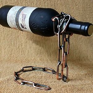 A Imagem Está Carregando Cool Magic Floating Chain Wine Bottle  Holder Illusion