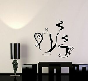 Details about Vinyl Decal Decorating Kitchen Coffee Shop Tea Maker Wall  Stickers Art (008ig)