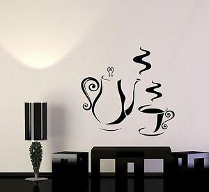 vinyl decal decorating kitchen coffee shop tea maker wall