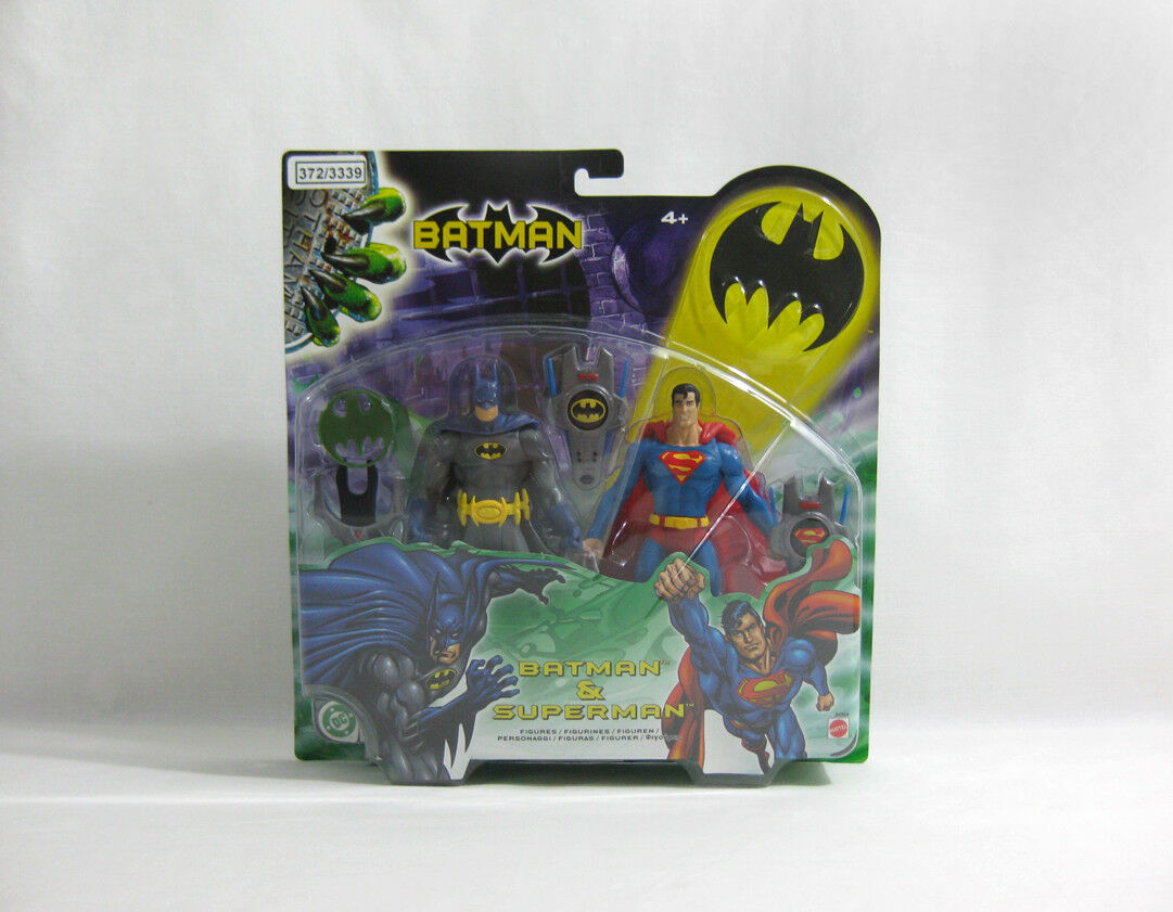 NUOVO 2003 JUSTICE LEAGUE ✧ BATMAN Superman + ✧ MATTEL DC Comics 6  Figure MOC