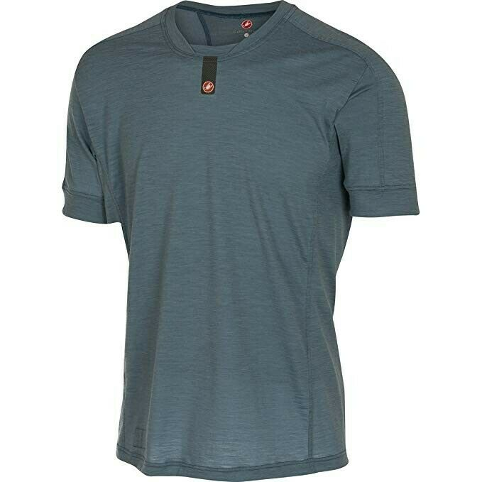 3 colors Available, Castelli Procaccini Wool Short Sleeve Large L, Red, Grey