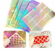 3 Sheet Nail Art Transfer Stickers 3D Design Manicure Tips Decal Decor Tool New