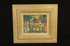 French Moulin Rouge Paris Oil on Canvas Impressionist Art Painting Artist Signed