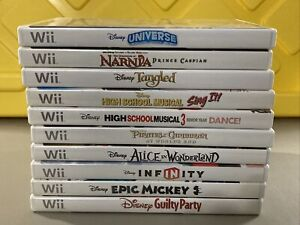 Lot Of 10 Disney Nintendo Wii Games ~Mickey Alice Pirates Tangled Narnia Musical