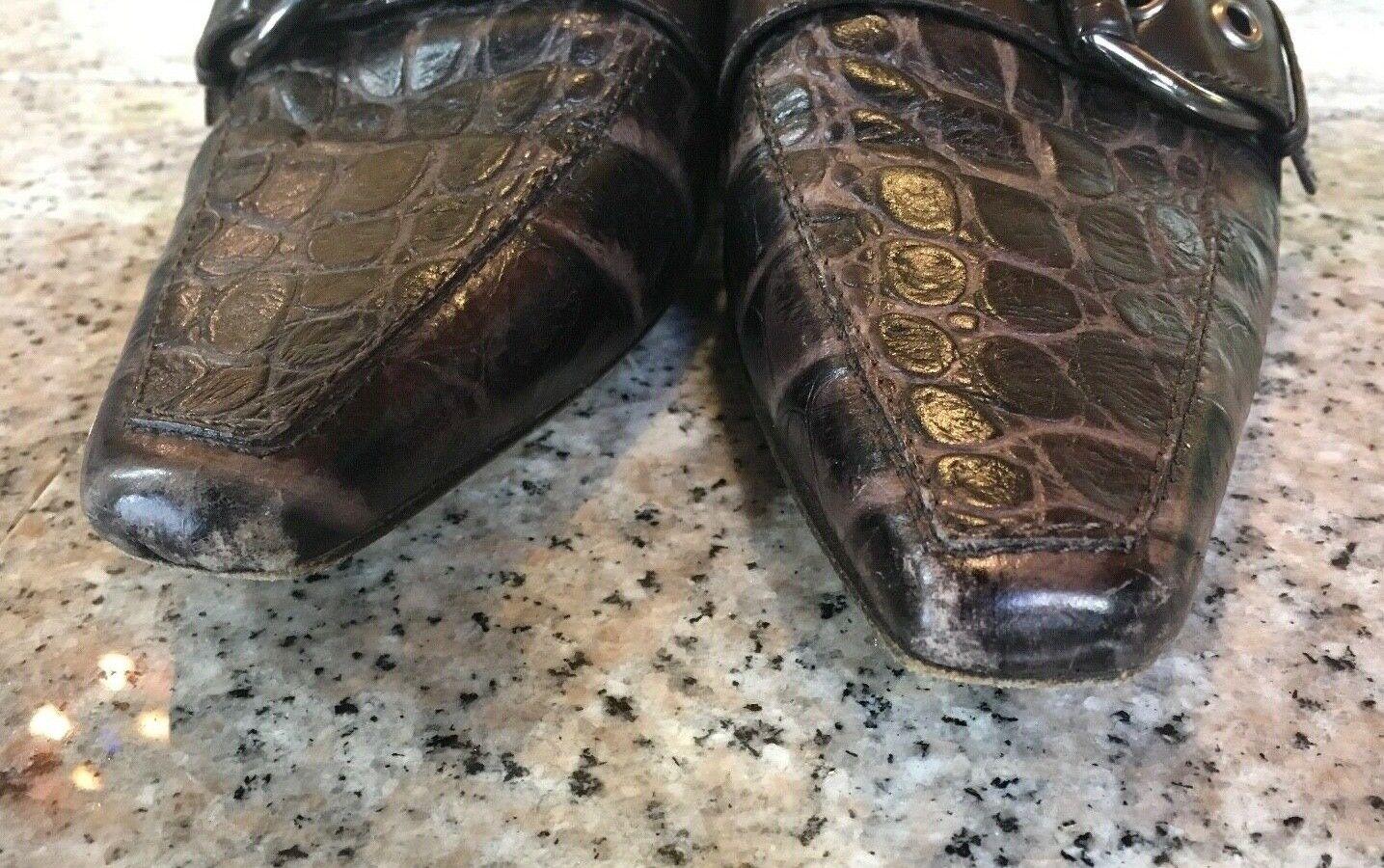 Donald J. J. J. Pliner Couture Genuine Crocodile Croc MALLOW Pumps shoes Sz 7.5 M 3bc4bf