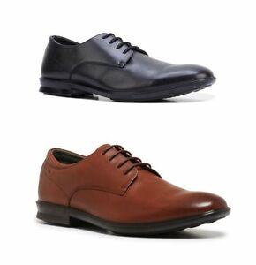 MENS-HUSH-PUPPIES-CALE-BLACK-TAN-LEATHER-COMFORT-LACE-UP-WORK-FORMAL-MEN-039-S-SHOES