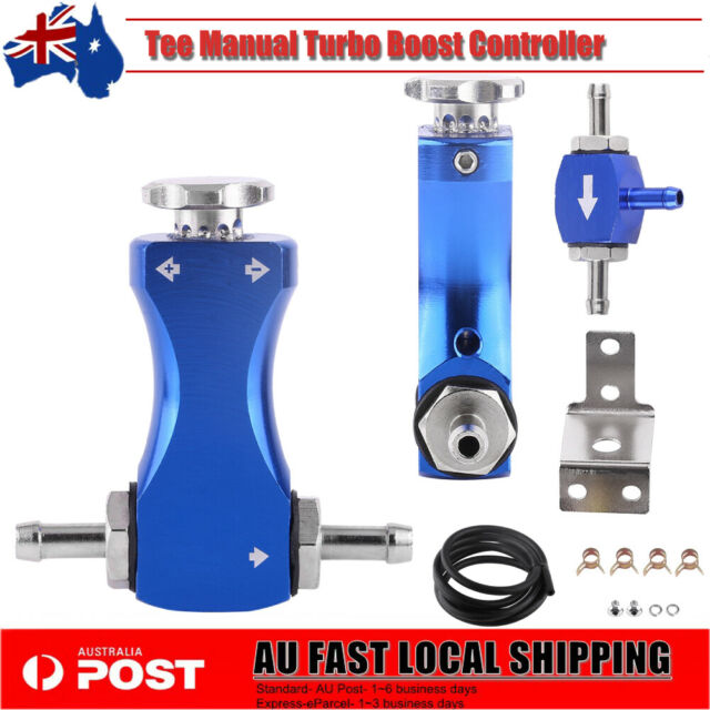 Adjustable Tee Manual Turbo Boost Controller Bleed Valve Petrol Diesel BLUE NEW