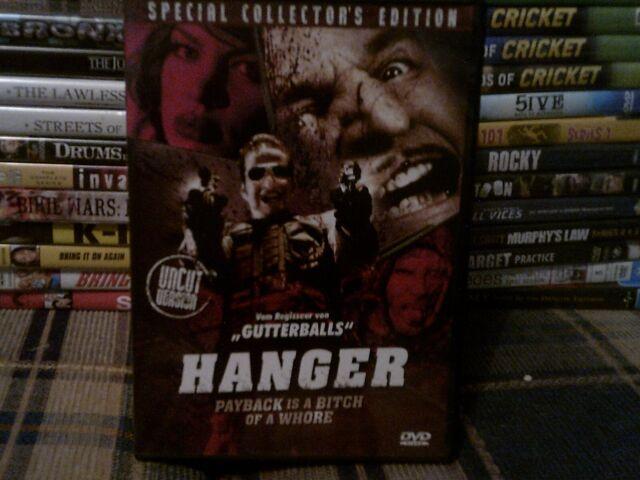 HANGER - USED REGION 0/ALL DUTCH IMPORT DVD (DEUTSCH & ENGLISH AUDIO)