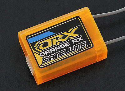 OrangeRx Satellite R110XL DSMX Compatible Receiver Orange Rx 2.4Ghz Long Antenna