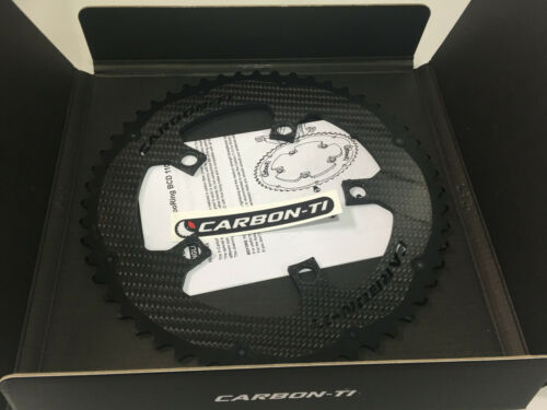 50T//52T Carbon-Ti X-CarboRing BCD110 x 5 Bolts Bicycle Outer Chainring