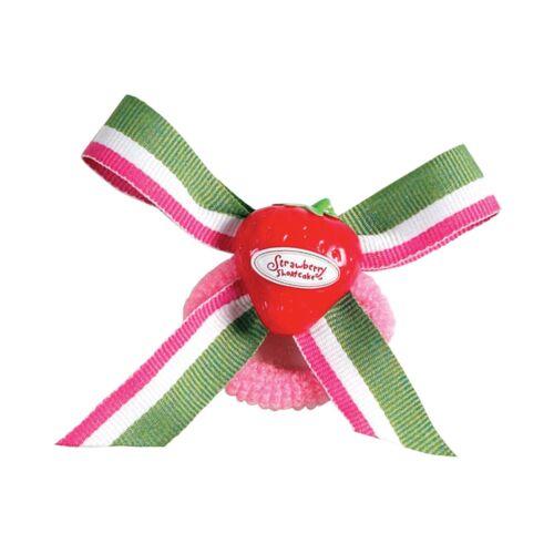 4 x Strawberry Shortcake Ponytail Holders Pink Girl Hair Elastic Band Accessory
