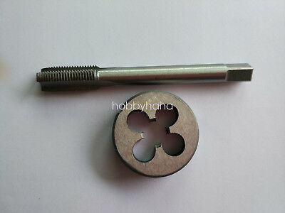 Lots 1pc HSS Machine 10-40 UNS Plug Tap and 1pc 10-40 UNS Die Threading Tool