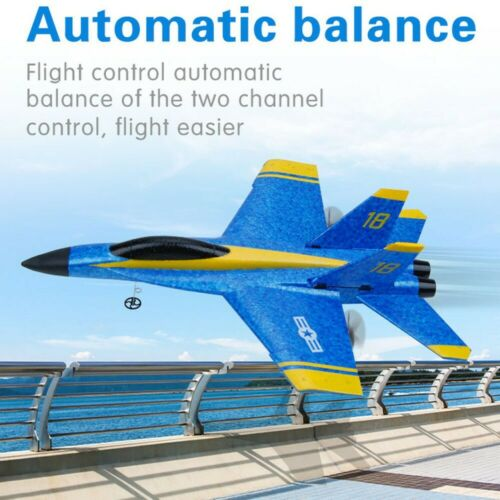F-18 RC Fighter Airplane Remote Control Glide Plane EPP Foam 3.5CH Kids Fly Toys