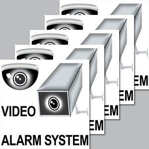 Discret 5 Autocollant 7 Cm Caméra Vidéo Système D'alarme Sticker Note Avertissement Surveillance-afficher Le Titre D'origine