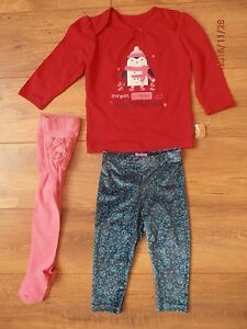 Girls Christmas Top amp Tights NEW Velour Leggings Worn Once Bundle Age 69 Mnths - <span itemprop=availableAtOrFrom>milford haven, Pembrokeshire, United Kingdom</span> - Girls Christmas Top amp Tights NEW Velour Leggings Worn Once Bundle Age 69 Mnths - milford haven, Pembrokeshire, United Kingdom