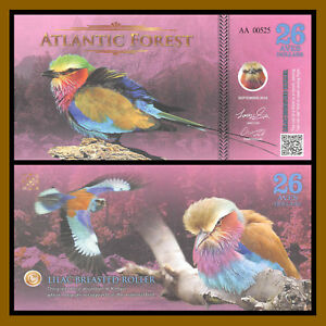 Atlantic-Forest-26-Aves-Dollars-2016-Lilac-Breasted-Roller-Unc
