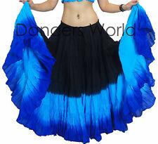 "Shaded ATS Tribal gypsy 25 yards yard belly dance dancing cotton skirt L36/37"""