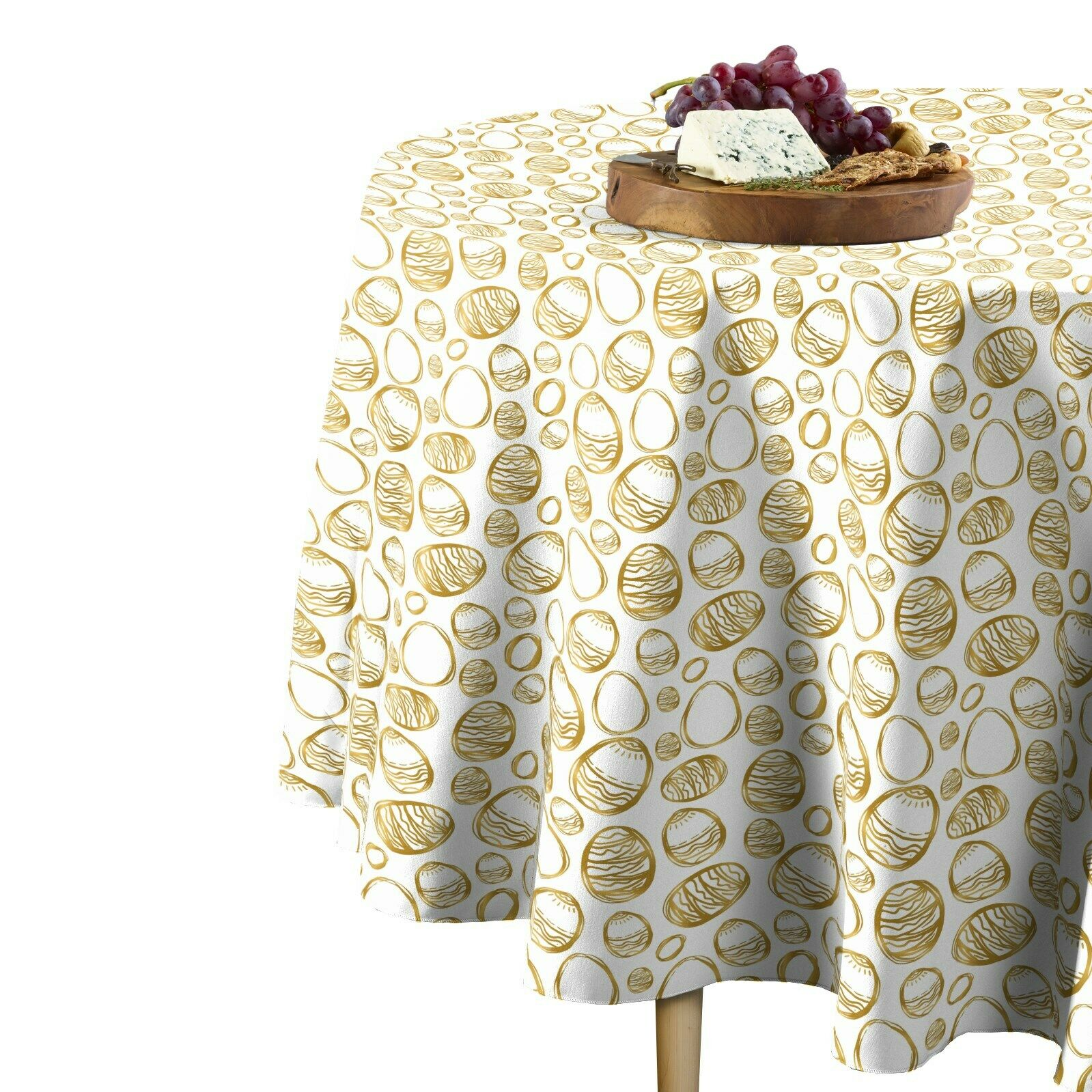 Golden Easter Eggs Signature Round Tablecloth Assorted Größes