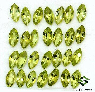 4x2 MM 30 Pcs Natural Green Peridot Marquise Cut Loose Gemstone Lot