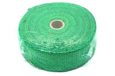HEAT WRAP TAPE CERAMIC FIBER EXHAUST MANIFOLD,2 WIDTH 2MM LENGTH 10M Green