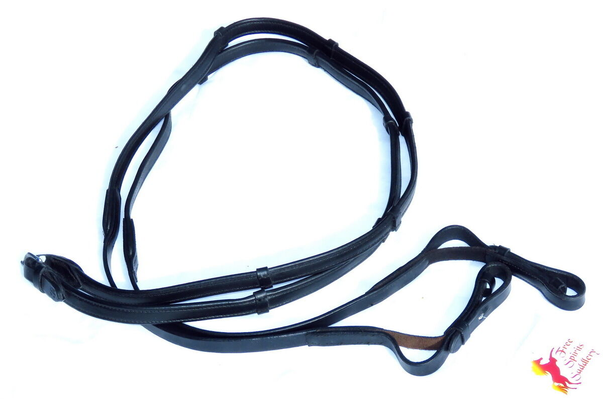 FSS Flexi Aid Elastic Insert Soft Contact NAPPA WRAPPED Notch Hand Stop Reins