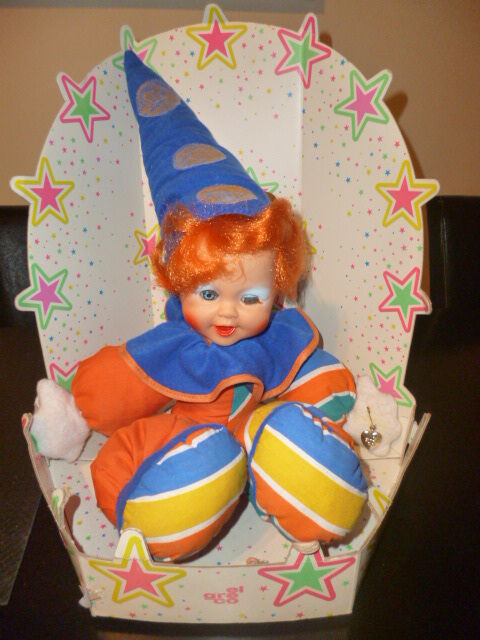 VINTAGE RARE GREEK PIERROT BIG DOLL DOLL DOLL & ORIGINAL PACKAGE BY EL GRECO 80s 1f1a1f
