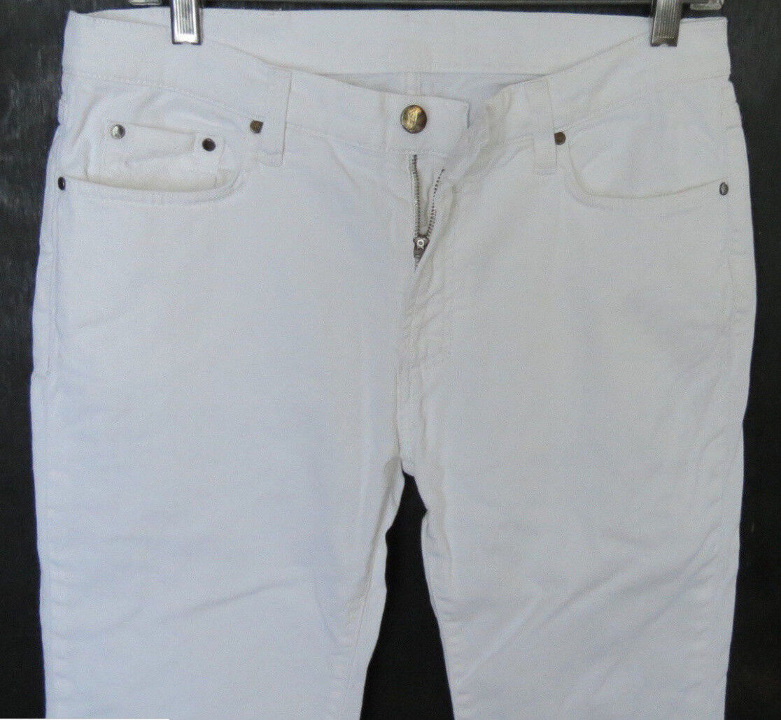 Versace Men Jeans 32 W x 32 White Slim Stretch Authentic Brand New NO TAGS