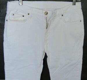 217fdeda2e Versace Men Jeans 32 W x 32 White Slim Stretch Authentic Brand New ...