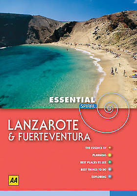 """AS NEW"" AA Essential Spiral Lanzarote and Fuerteventura (AA Essential Spiral Gu"