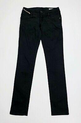 Liberale Diesel Matic Jeans Pantalone Donna Usato W27 Tg 41 Slim Skinny Nero Woman T5533 2019 Nuovo Stile Di Moda Online