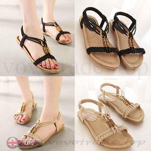 Women-Summer-Bohemia-Flat-Sandals-Slippers-Flip-Flops-Beach-Sandals-High-Quality
