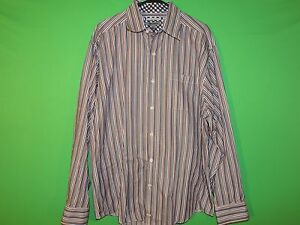 Johnston-amp-Murphy-Men-039-s-Size-XL-Extra-Large-Tailored-Fit-Striped-Long-Slv-Shirt