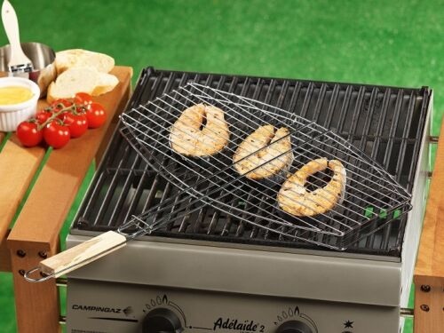 BBC Collection Grill-Rost Grill-Bassket Grill-Korb Grillkorb Oval 45x25 cm