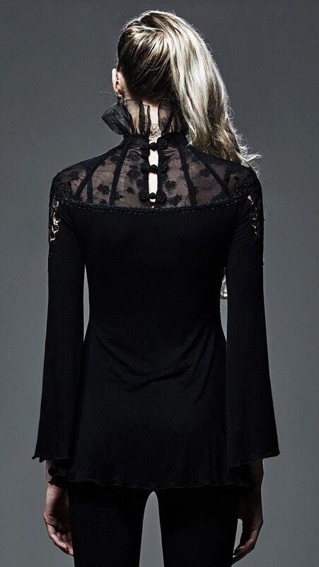 Top haut haut haut gothique lolita burlesque baroque collerette dentelle broderie Punkrave e69904