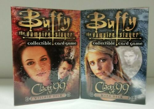 2 DECK Buffy the Vampire Slayer Class of 99 Deck Villain and Hero deck LOT