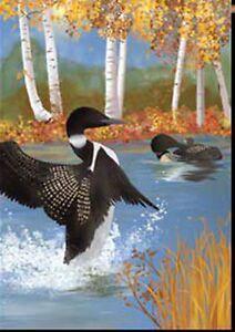Autumn-Loons-Garden-13-034-x-18-034-Approx-Size-Flag-PR-51873