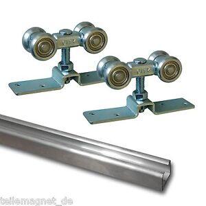 Das Bild Wird Geladen Aluminiumlaufschiene 3m Schiebetuer Schiene  Alu Rollwagen Beschlag