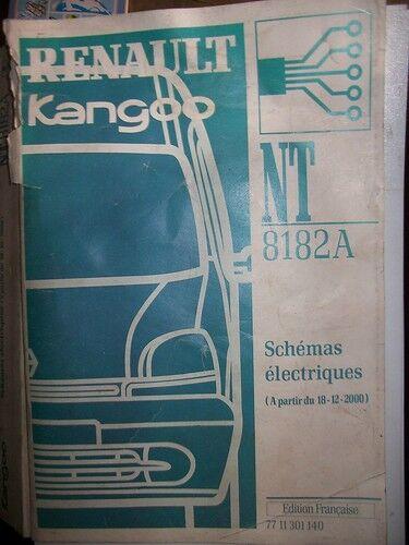 schémas électriques KANGOO 2000 2001 NT8182