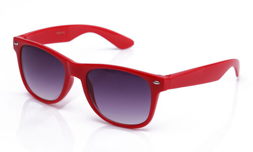 Youth Horned Rim Sunglasses Solid Color Frames with Temple Accents!