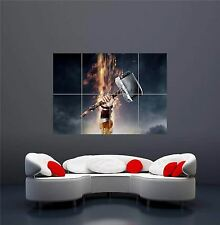 THOR 2 il buio Mjolnir Martello NUOVO GIGANTE Wall Art Print PICTURE POSTER oz675