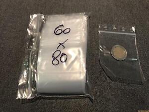 100-Pochettes-Pochons-sachet-plastique-ZIP-60-80-mm