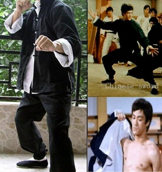 (3pcs) Bruce Lee Wing Chun Kung Fu  Costume Martial Arts Clothing suit