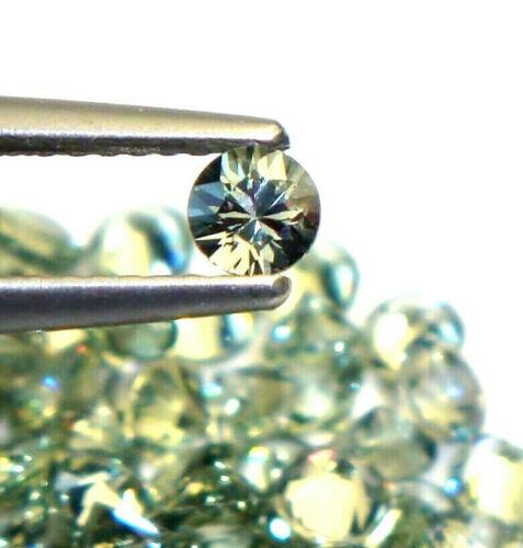 1x Safir//Sapphire 1864 Rund  facettiert grün//green 3,5mm