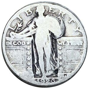 1926-Standing-Liberty-Quarter-Nice-Structure-Silver-25c-Phil-Mint-Coin-No-Res