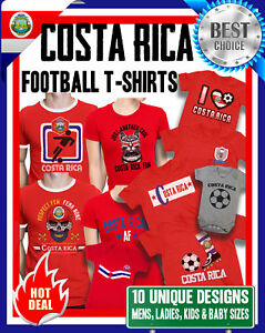 COSTA RICA World Cup 2018 KIDS Unisex T-Shirt FOOTBALL New Style Retro