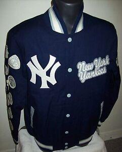 New York Yankees 27 Time World Series Champions Jacket Blue S M L Xl
