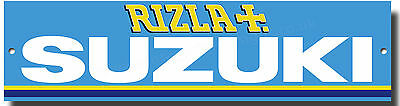 RIZLA SUZUKI MOTO GP METAL SIGN,SUZUKI RACING GARAGE SIGN,SUZUKI WORKSHOP SIGN